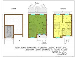 Projekt budynku jednorodzinnego w zabudowie szeregowej